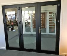 ALUMINIUM BIFOLD DOORS 3 PANEL,  NEW 2410 x 2100h, BLACK, IN STOCK