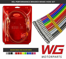 2006+ Models HEL Braided Brake Line Hose Kit for BMW 3 Series E90 325d SE