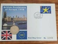 1992 - 1993 50p Coin British Presidency EEC EC Council 50p COIN Cover MINT NEW