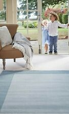 Origin Borders Modern Hand Tufted Pure Luxury Wool Rug Duck Egg Blue 3 Sizes