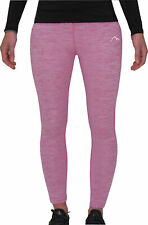 More Mile Heather Womens Running Tights Pink Twist Effect Sports Training Tight