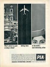 1962 Pakistan International Airlines PIA PRINT AD Rome Jet Stewardess Campaign