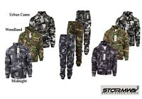 Men's  Camo Camouflage Tracksuit Jogging Bottom Jogger Hoodies Top Jumper