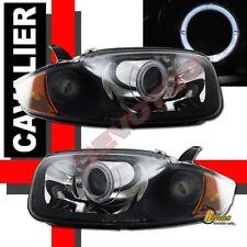 03 04 05 Chevy Cavalier Halo Angel Eye Projector Headlights RH + LH