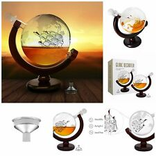 World Globe Decanter For Whiskey Wine Rum Vodka Bottle With Antique Ship 1000ml