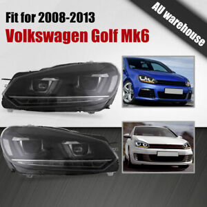 LED Projector Headlights Sequential Indicators For 2008-2013 VW Golf 6 MK VI