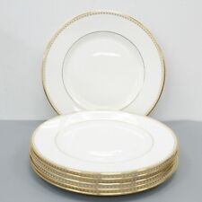 Lenox Pearl Gold Dinner Plates Lot of 6 Made in USA (1/2)