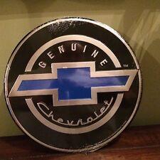 Genuine Chevrolet Bowtie Round Metal Tin Sign Garage Man Cave~Free Shipping