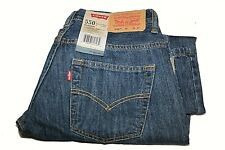 Levi Strauss Jeans 550 Boys Relaxed Fit Sz 8 Husky 28x23 NWT Adjustable Waist