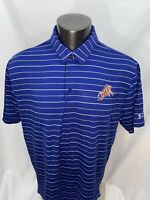 Under Armour Heat Gear 2XL Loose 'Durham Bulls' Blue Polo Golf Shirt Men's