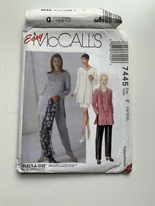 Vintage Easy McCalls Sewing Pattern #7445 F Size 16 - 18
