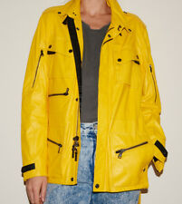 RARE - Ralph Lauren BLACK LABEL Yellow Leather Jacket - Women's *M*