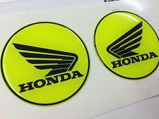2 Adesivi HONDA 3D Giallo Fluo 3D resinati Hornet CBR CBS CB NC - 5 cm