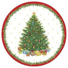 NIP CASPARI 8 PACK CHRISTMAS TREE SALAD - DESSERT 7  PAPER PLATES IVORY HOLIDAY  sc 1 st  eBay & Caspari Christmas Party Plates | eBay