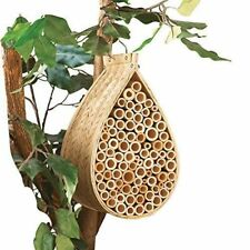 Natural Bamboo Hanging  Mason Bee Hive House Garden Outdoor Landscape Tree ~NEW~