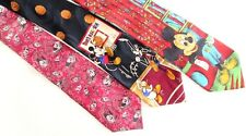 Mickey Mouse Ties Lot of 3 Silk Fathers Day Gift Idea