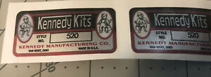 Kennedy Kits Custom Tool Box Decal Reproduced Vinyl With Numbers 520 Set 2