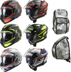 LS2 FF900 Valiant II Revo Flip up Helmet Motorcycle Helmet Incl. Free