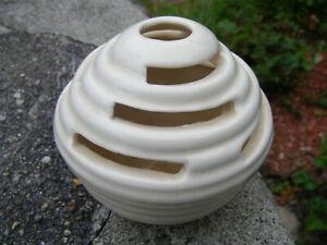 VINTAGE Pottery PANSY POT FLOWER FROG