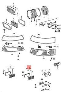 Genuine PORSCHE 911 912 Side Marker Light Rear 90163143103