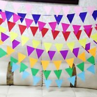 2 Sets Fabric Pennant Banners Flag Bunting Birthday Weddiing Party Decoration