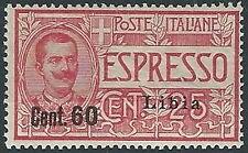 1922 LIBIA ESPRESSO 60 CENT MH * - G062