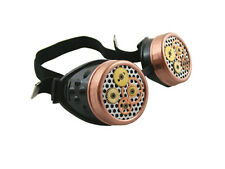 STEAMPUNK CYBER GOGGLES BLACK COPPER GEARS CYBERGOTH COSPLAY GOTHIC RAVE CYBER