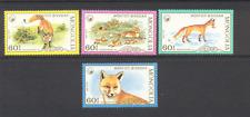 Mongolia 1987 Foxes/Animals/Wildlife 4v set (n11633)
