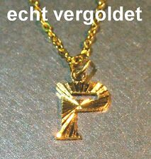 Classy Necklace Chain Letter P Alphabet Real Gold Plated Name Name Necklace New