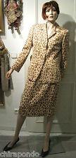 Kostüm Gr. 40 braun beige Leopard Raubtier Tiger  look  Wildseide edel angesagt