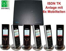 Siemens Gigaset 1054 ISDN TK-Anlge mit 6x SL2/SL55/SL56 Professional Mobilteilen