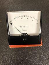 Vintage Simpson Dc Volts Meter Gauge 0 10v Wide Vue