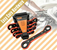 5 pc pcs Offset Ratchet Ring Spanner Wrench Set Garage Workshop Tool 6 - 21 mm