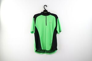 Vintage Gore Bike Wear Mens Large Spell Out Half Zip Pullover Cycling Jersey