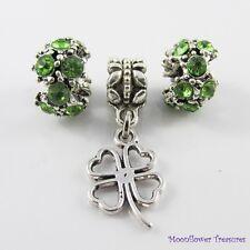Luck of the Irish St Patricks Bead & Charm Gift Set fit European Charm Bracelet