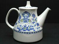"""FIGGJO FLINT Pottery Lotte Turi Design Teapot W/Lid Norway 7"""" Mid Century Modern"""