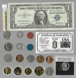 Silver Dollar Barber Mercury Liberty Indian Rare US Coin Collection Lot Gold 255