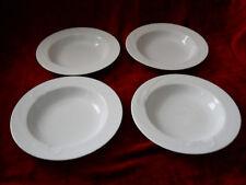 Mikasa Classic Flair white set of 4 soup bowls
