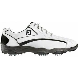 NEW! FootJoy [9] Narrow SUPERLITES Men Golf Shoes 58011-White/Black