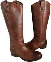 Frye Womens Melissa Button 2 Knee High Riding Boots Cognac Women's Size 8M