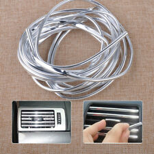 4M Silver Chrome Car Air Conditioner Grille Outlet Cover PVC Bumper Strip Trim