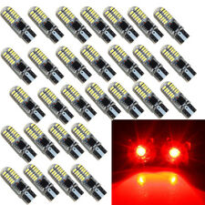 50 X Strobe Flash T10 24SMD LED Silica Tail Light Brake Stop Bulbs W5W 194 168
