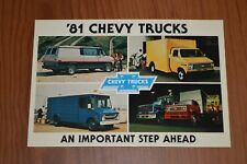 ★★1981 CHEVY TRUCK VAN/CUBE/HEAVY DUTY ORIGINAL DEALER PROMO POSTCARD★★