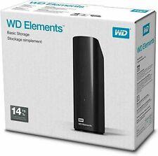 WD elements Desktop disco duro externo 14 TB negro nuevo
