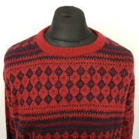 JANTZEN Mens Vintage CANADIAN BAGGY Pullover LARGE Sweater Jumper Knit Crew Neck