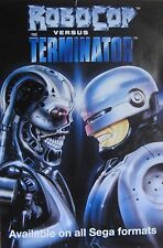 "40x60"" SUBWAY POSTER~Robocop Vs. Terminator 1991 HUGE Sega Video Game Print NOS~"