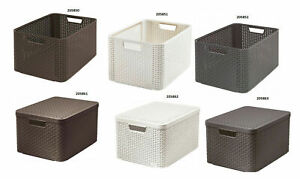 Curver Storage Box with Lid and Container Without Lid Organization Box Style L