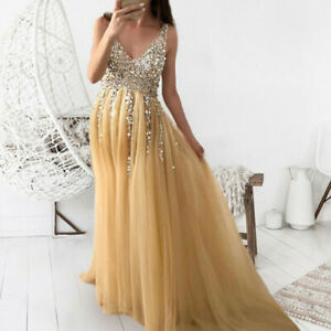 Womens Pregnant Long Sequined Maxi Dress Maternity Gown Party Photography Props
