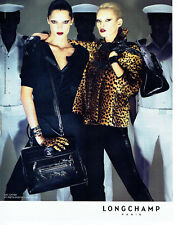 Publicité Advertising 028  2009   Longchamp sac Gatsby & Kate Moss