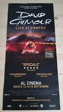 DAVID GILMOUR LIVE AT POMPEII Locandina Cinema 33x70 Poster Concerto Evento Film